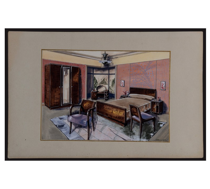 Watercolor Studies Art-Deco Interiors-bibliotheca-culinaria-9270-stampa-camera-2-main-637044873586206982.jpg