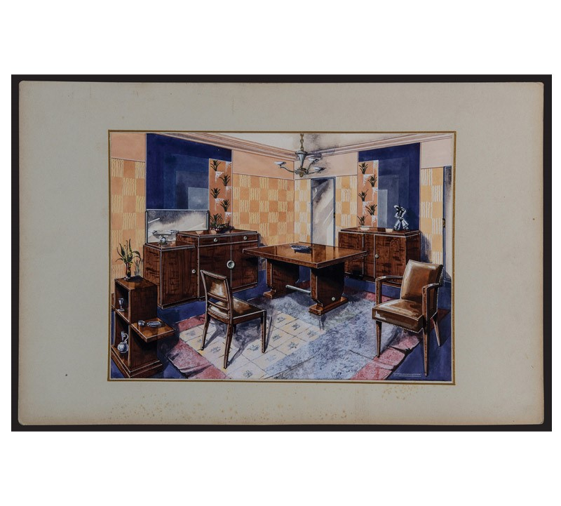 Watercolor Studies Art-Deco Interiors-bibliotheca-culinaria-9271-stampa-soggiorno-2-main-637044873644488756.jpg