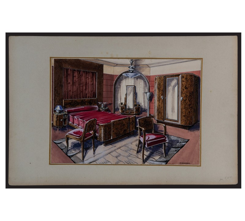 Watercolor Studies Art-Deco Interiors-bibliotheca-culinaria-9272-stampa-camera-3-main-637044873728241118.jpg