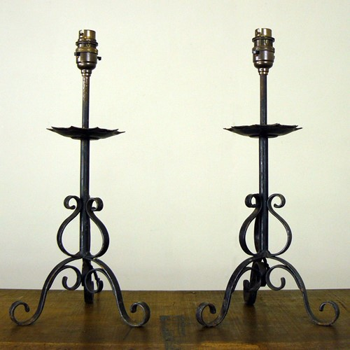 Little Wrought Iron Table Lamp - We Have 6 Left