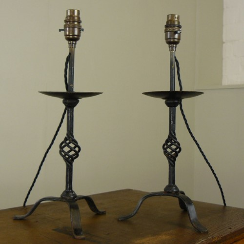 Vintage Wrought Iron Table Lamp we have 2 Left