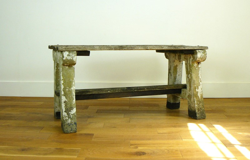 1930s Concrete and Wood Garden Bench Table-billy-hunt-vintage-concrete-canalside-table-0003-p1380068-main-637286108512999464.jpg