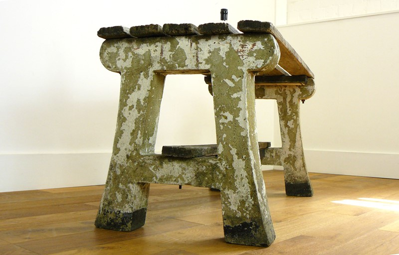 1930s Concrete and Wood Garden Bench Table-billy-hunt-vintage-concrete-canalside-table-0007-p1380063-main-637286108276907407.jpg
