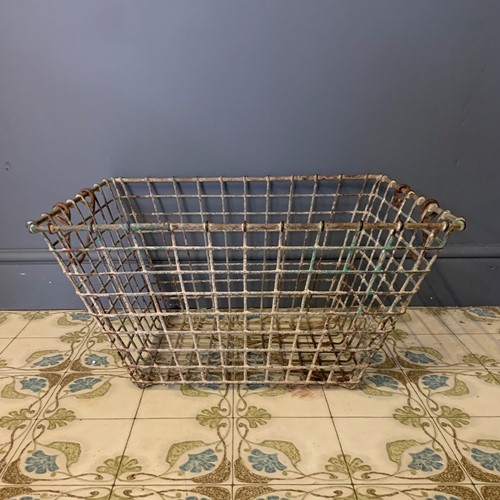 French Rustic Metal Basket