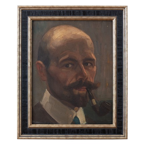German School, Portrait Of A Gentleman With A Pipe
