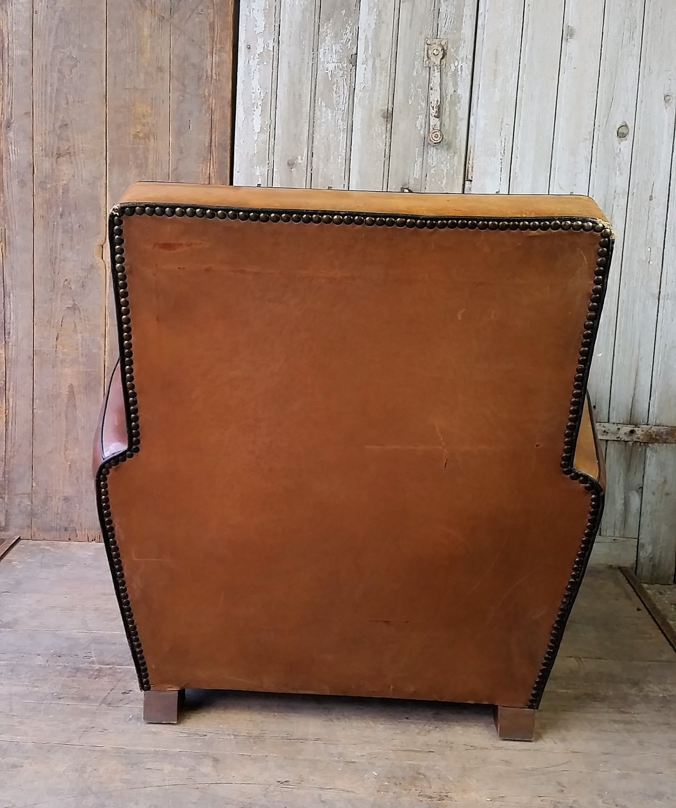 Zoom; Vintage French Leather Club Chair  Brocante Furnishings Frenchclub5_main_636563908470003075