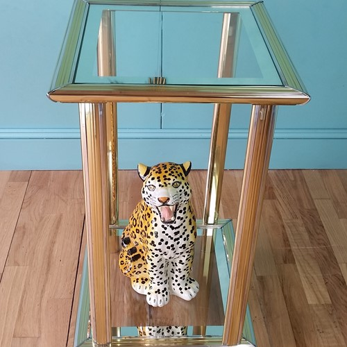 French two tier side table