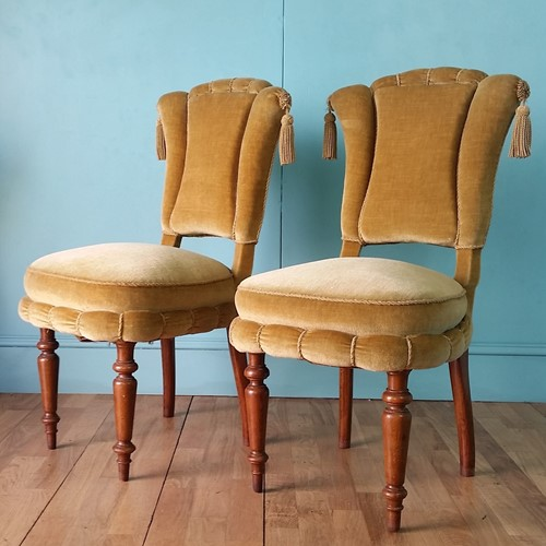 Danish side chairs - pair