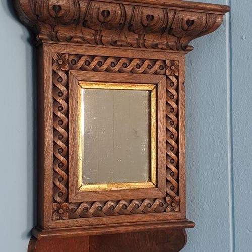 Antique Art Nouveau Corner Mirror; Scottish