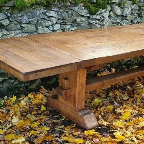 Refectory Table 1970s 8-12 Seater Oak Extendable
