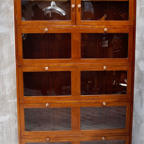 Vintage Mahogany Barristers Bookcase