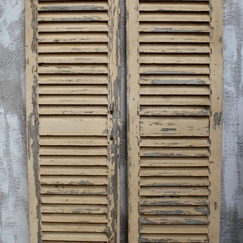 Vintage French Louvre Shutters