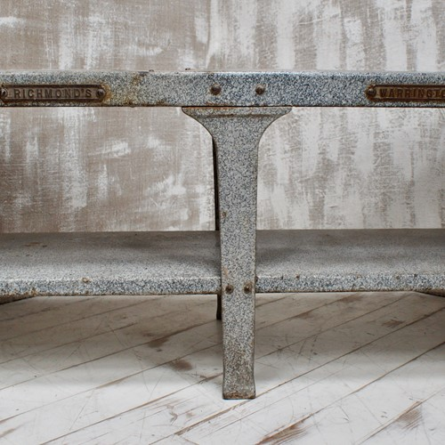 Vintage Enamel Butchers Wet Bench