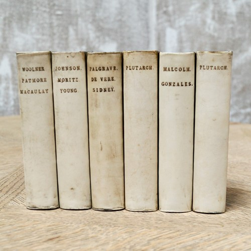 Antique Vellum Bound Books