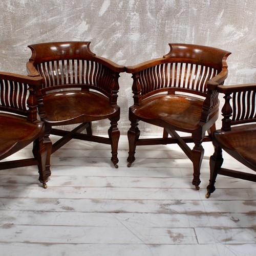 Edwardina Oak Bankers Chairs