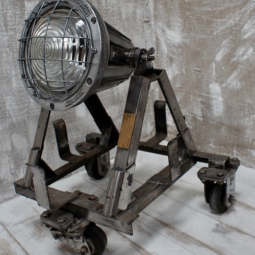 Rare Vintage Simplex Portable Floodlight