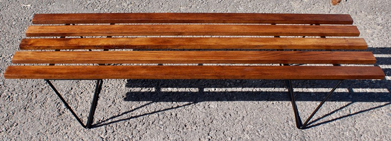 1960's Oak Slatted Hairpin Bench-clubhouse-interiors-ltd--dsc9325-main-637056276684501907.jpg
