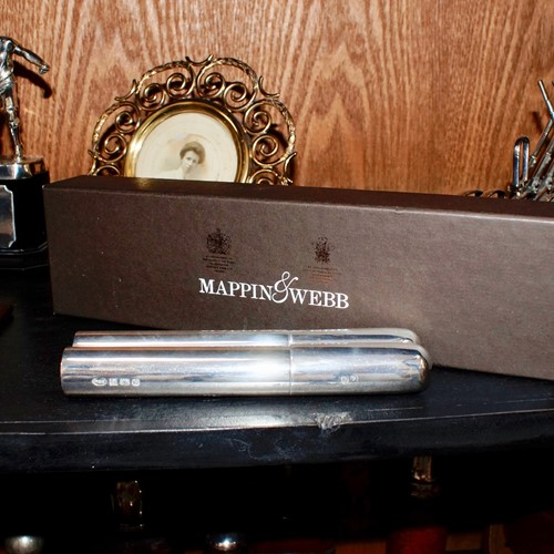 Mappin & Webb Solid Silver Cigar Holder (1998)