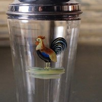 Art Deco Silver Plated & Glass Cocktail Shaker