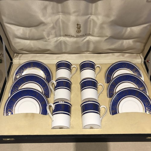 Boxed set of Royal Doulton Coffee Cups