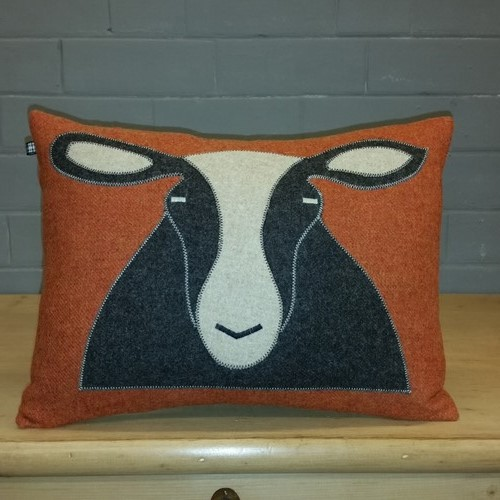 Handmade Sheep / Zwartbles cushion