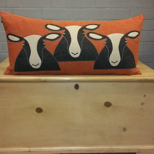 Extra Extra Large Handmade Sheep/Zwartble Cushion