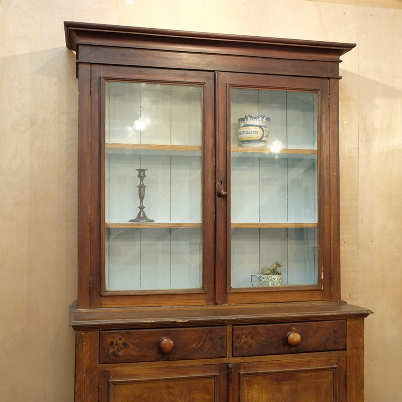 19th C Glazed Bookcase with Original Finish-cunningham-white-s-glazed-painted-dresser-bookcase-3-main-636924705699340998.jpg