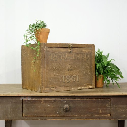 Dated Pine Deed Box