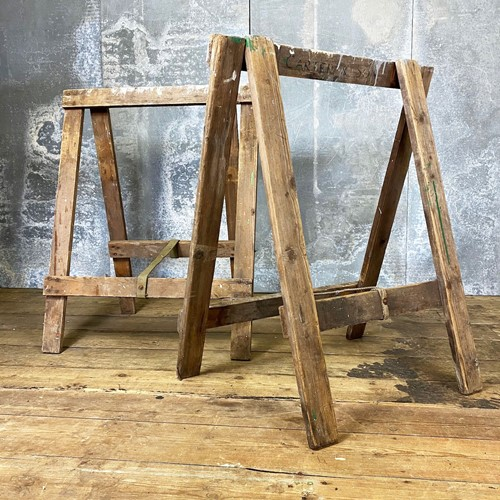 Vintage Pair of 'Caters & Sons' Trestle Legs