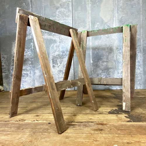Vintage Pair of Caters Trestle Legs