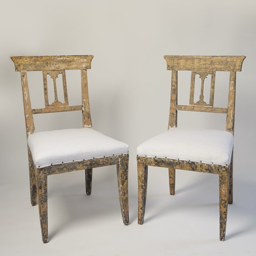 Antique swedish gustavian chairs