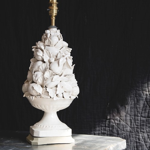 Ceramic Fruit Topiary Lamp