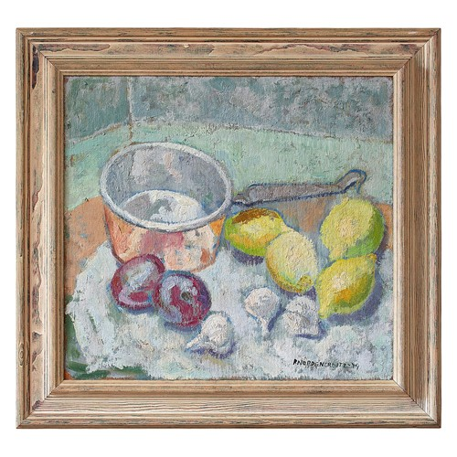 Brita Nordencreutz, Still Life With Plums & Lemon