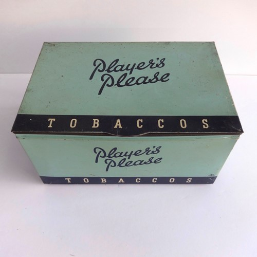 Vintage shop counter Player's tobacco display tin