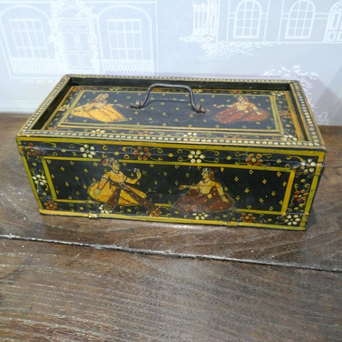 Antique Hand Painted Rajasthan Muhgal Dowry box
