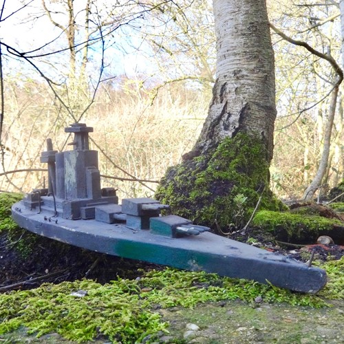 Folk Art POW Scratch Built Battleship