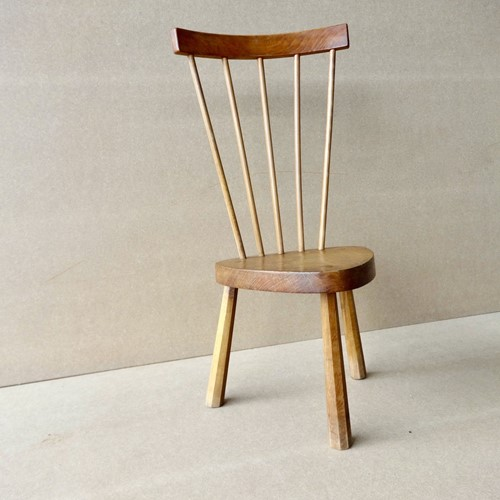 Welsh high stick back small slab seat chair