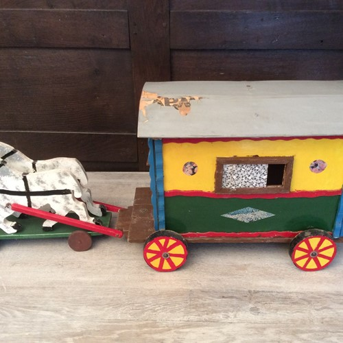 A large scratch built Gypsy caravan model