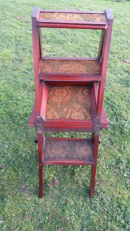 Antique Arts & Crafts  Metamorphic Library Steps -eras-of-style-img-8054-main-637101010602504484.JPG