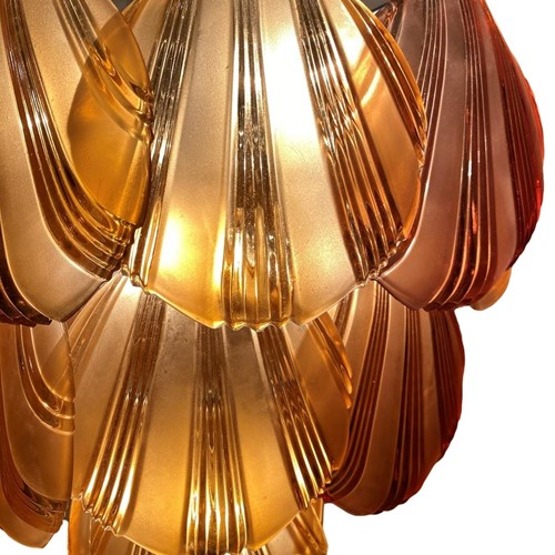 Vintage Brown Shell Chandelier