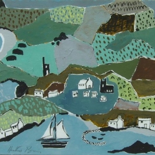 "Painting by Heather Bray ""Cornwall  in Summer"""