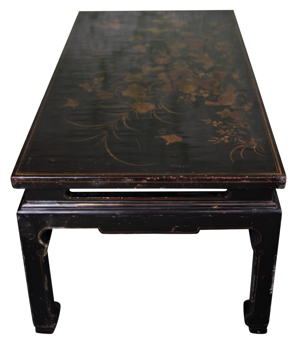 lacquered chinoiserie low table the hoarde. Black Bedroom Furniture Sets. Home Design Ideas