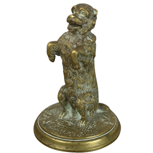 Small Bronze Figure of Terrier