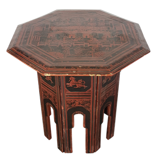 Lacquered Anglo-Indian Octagonal Table