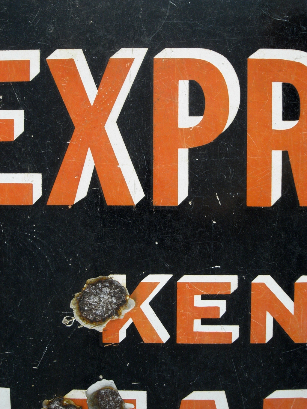 kent express enamel sign the hoarde. Black Bedroom Furniture Sets. Home Design Ideas