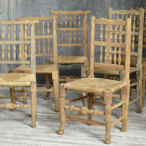 Set of 6 country chairs