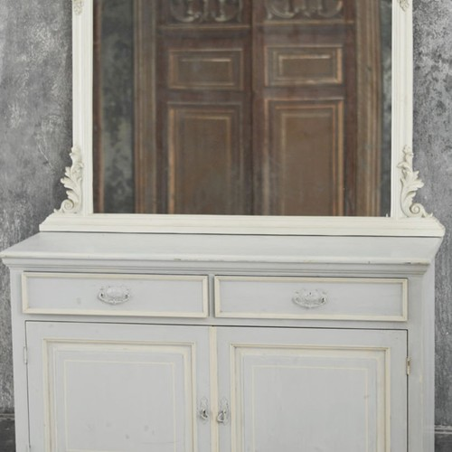 French style mirror and buffet set