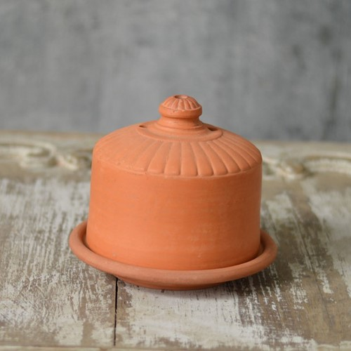 French terracotta cheese cloche