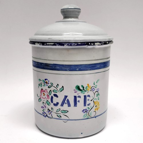 French Enamel cafe tin