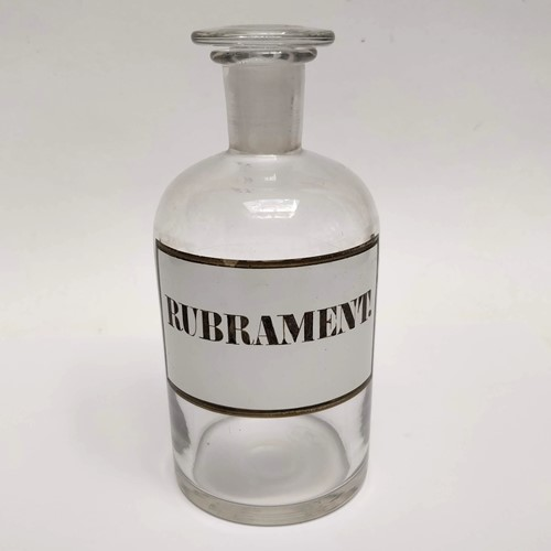 Rubrament Glass Apothecary Bottle